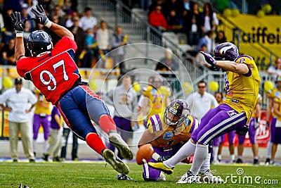 Vikings vs. Broncos Editorial Stock Photo