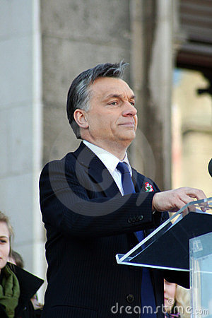 Viktor Orban the Hungarian prime minister Editorial Photography