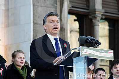 Viktor Orban the Hungarian prime minister Editorial Stock Photo