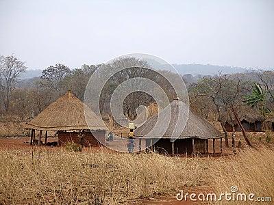 Vila africana em Mozambique