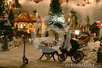 Imagens de Stock Royalty Free: Vila da miniatura do Natal. Imagem: 342009