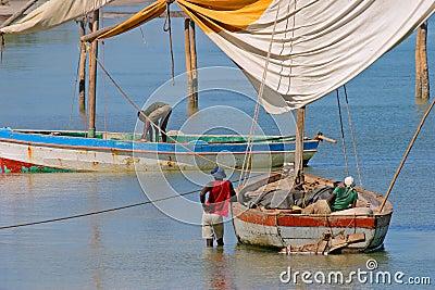 Vilanculos Мозамбика рыболовов mozambican
