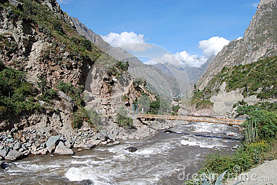 Vilcanota river in Piskakucho  Inca Trail