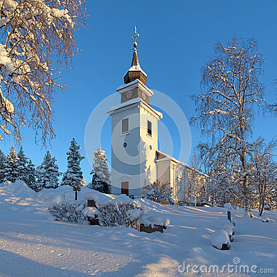 Free Vilhelmina Church In Winter, Sweden Royalty Free Stock Photography - 28949707