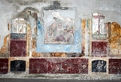 Villa arianna fresco stock photo image 51410092 for Ancient mural villa
