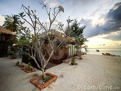 Villa on a beach