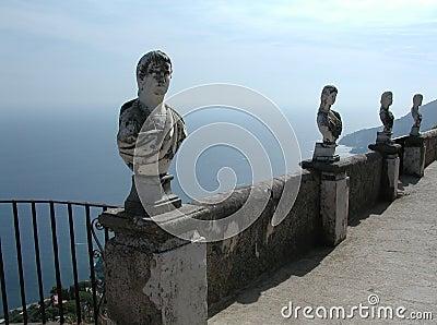 Villa Cimbrone balcony, Amalfi Coast, Italy