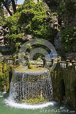 Villa d Este in Tivoli - Italy