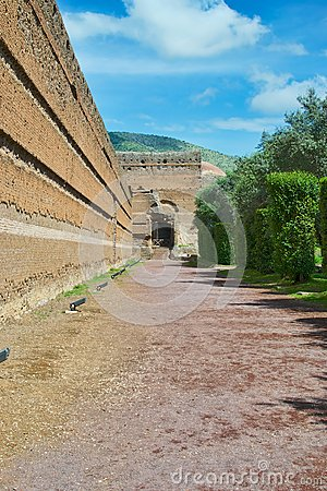 Ancient roman bricks wall