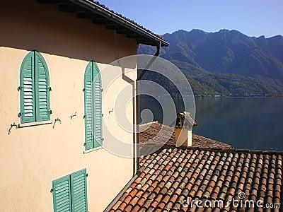 villa Lake Como scene italy