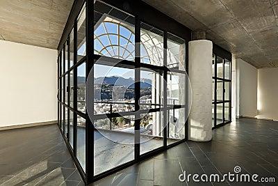 Villa. large window, intrior