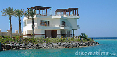 Villa on sea
