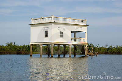 Villa on Stilts, Tonle Sap lake, Cambodia