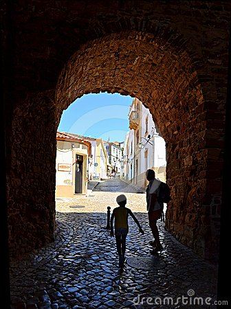 Village in Algarve, Portugal Editorial Image
