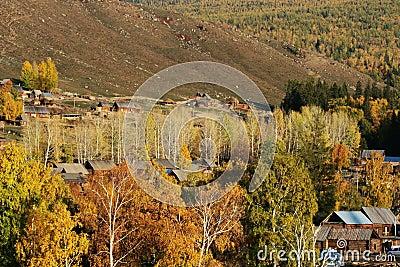 Village Baihaba in Autumn