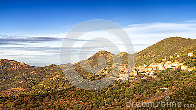 The village of Belgodere in Corsica