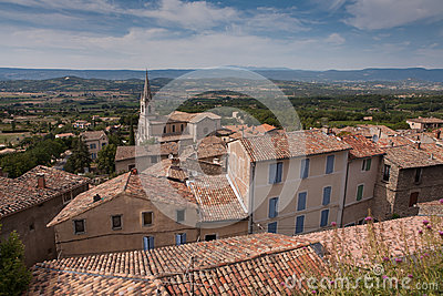 Village of Bonnieux in the South of France