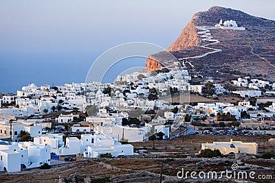 Chora village on Folegandros island