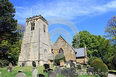 Village church and graveyard