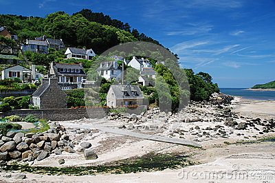 Village on the coast Brittany