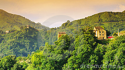 Village in corsica mountains