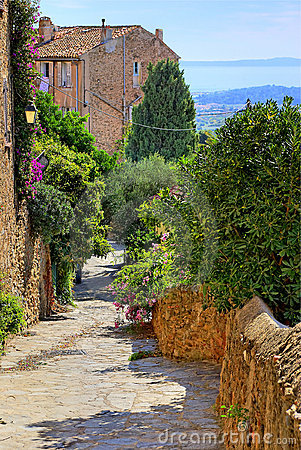 Village on the Cote d Azur near Saint-Tropez (Fr)
