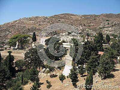Village in Crete mountains