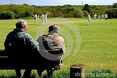 Village cricket match spectators