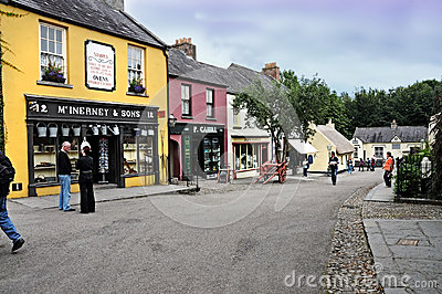 Village de Bunratty Photo stock éditorial