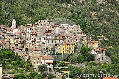 village de montagne d 39 airole ligurie italie photo stock image 42980252. Black Bedroom Furniture Sets. Home Design Ideas