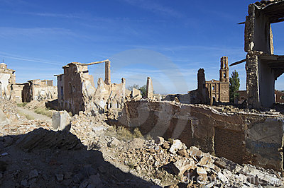 Village demolished Belchite