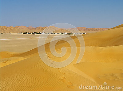 Village in the desert, Oman