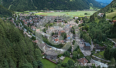 Village in the Dolomite Alps