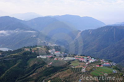 A village on famous mountain in Taiwan
