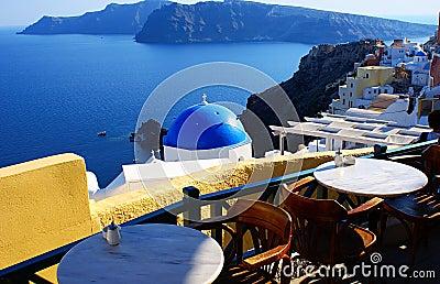 Village of Fira at Santorini, Greece