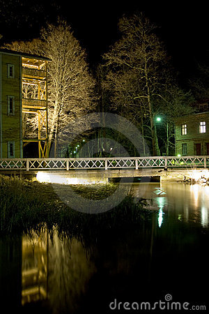 Village of Fiskars at night