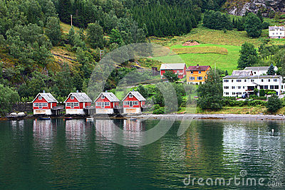 Europe village in fjord
