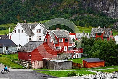Europe village in fjord