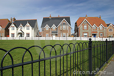 Village Green Houses in a Row