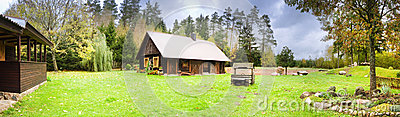 Village house panoramic