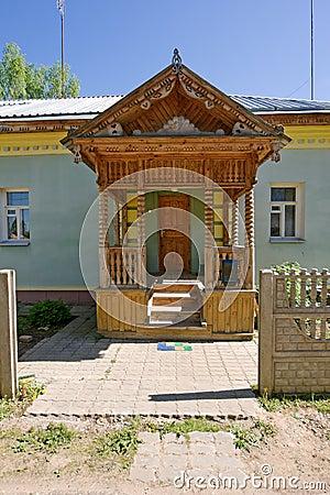 Village house porch
