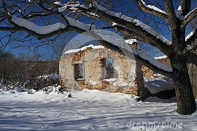 Village house in ruins, Romania