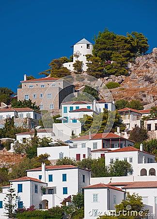 Village on the island of Hydra, Greece