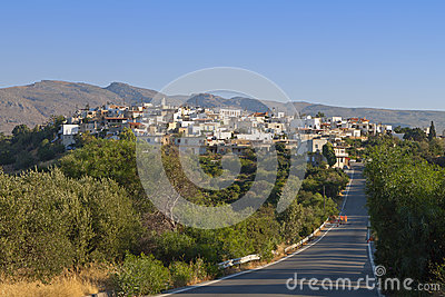 Village of Lithines at Crete island in Greece