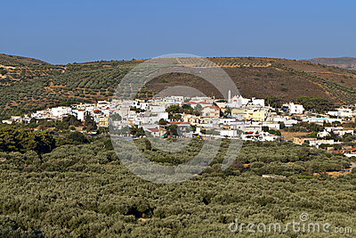 Village of Lithines at Crete island, Greece.