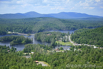 Village of Long Lake in the Adirondack Park, NY