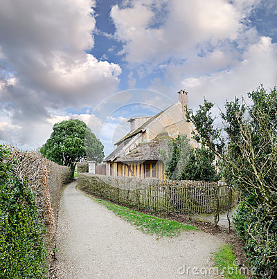 Village of Marie Antoinette at Versailles Editorial Stock Photo
