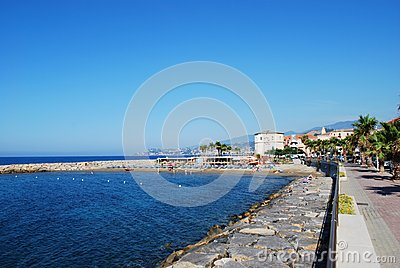 Village on Mediterranean sea