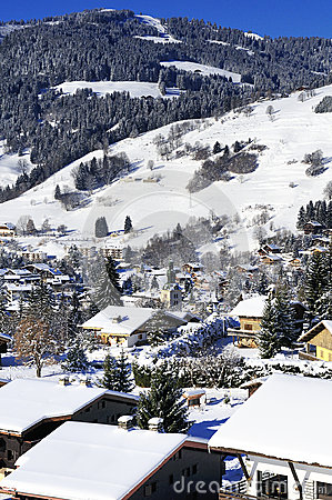 Village of Megeve, French Alps