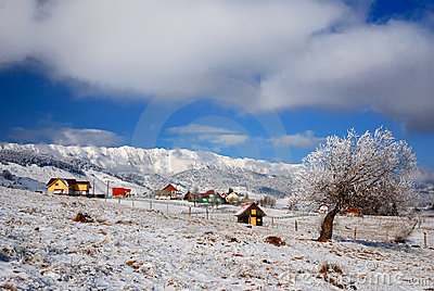 Village in mountain (Romania)